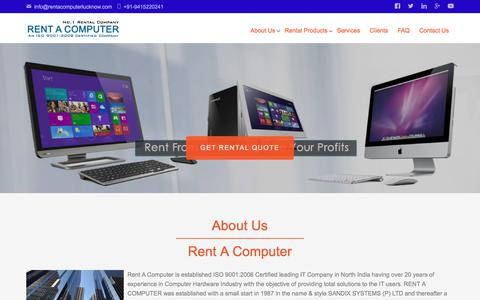 Screenshot of About Page rentacomputerlucknow.com - About Us   Rent A Computer - captured Oct. 4, 2017
