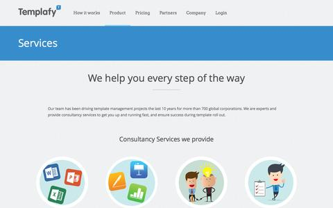 Screenshot of Services Page templafy.com - Services | TemplafyTemplafy - captured Dec. 17, 2014