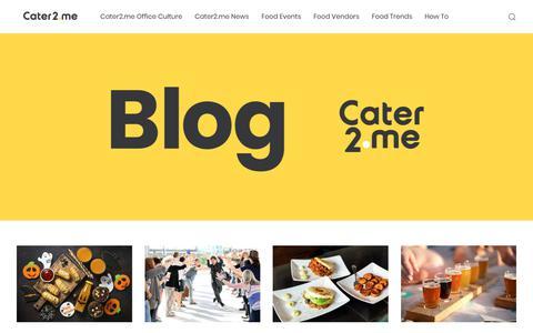 Screenshot of Blog cater2.me - Cater2.me - Inspiring Creativity and Collaboration Over Shared Meals - captured Oct. 6, 2018