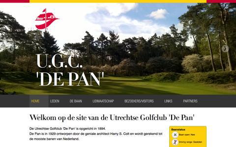 Screenshot of Home Page ugc-depan.nl - Utrechtse Golf Club 'De Pan' - Home - captured Feb. 14, 2016