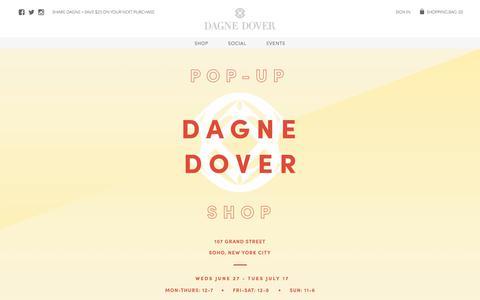 Screenshot of Home Page dagnedover.com - The Perfect Handbag for Any Occasion | Designer Handbags | Dagne Dover - captured July 13, 2018