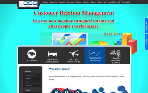 Screenshot of Services Page dss.com.sg - Distributed Software Solution Pte Ltd. - captured Feb. 8, 2016