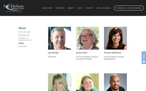 Screenshot of Team Page safeharbors.com - Team - captured Oct. 1, 2018