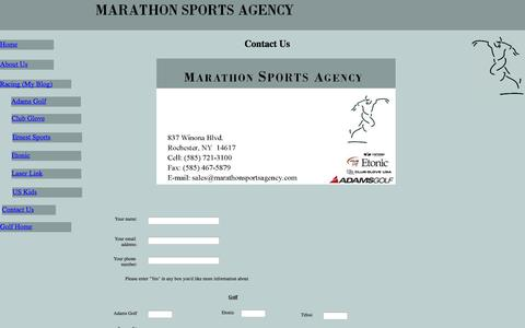 Screenshot of Contact Page marathonsportsagency.com - Marathon Sports Agency - Contact Us - captured Oct. 27, 2014