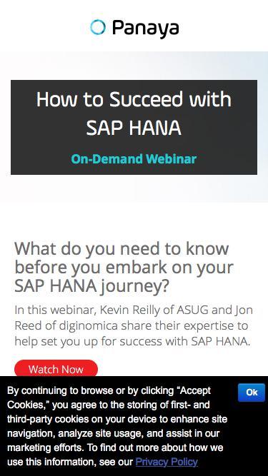 How to Succeed with SAP HANA - Watch Webinar