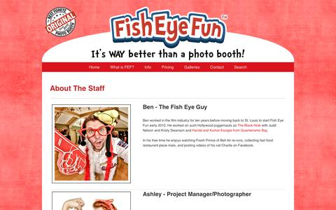 Screenshot of About Page fisheyefun.com - About The Staff » Fish Eye Fun – A St. Louis Photo Booth Service - captured Dec. 9, 2018