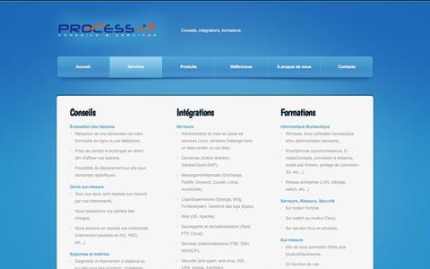 Screenshot of Services Page process-it.fr - Process-IT : services et prestations informatiques - captured Oct. 3, 2014
