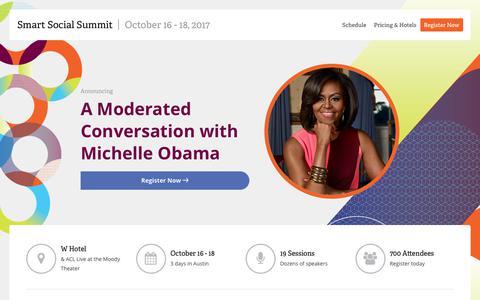 Smart Social Summit - Oct 16-18, 2017 | Spredfast