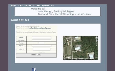 Screenshot of Contact Page lakedesignmfg.com - Lake Design and Manufacturing,contact us - captured Sept. 27, 2014