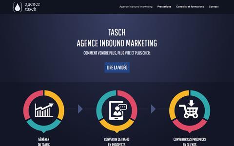 Screenshot of Home Page agence-tasch.com - Tasch – agence Inbound marketing - captured Jan. 27, 2015