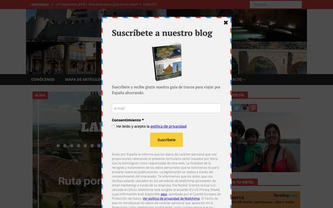 Screenshot of Blog rutasporespana.es - Rutas por España | Blog de turismo y viajes por España - captured Oct. 18, 2018