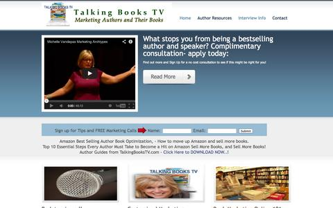 Screenshot of Home Page talkingbookstv.com - Book Promotion Marketing and Author Interviews, Book reviews, - captured Sept. 30, 2014