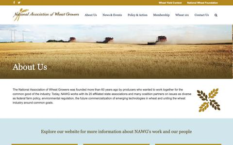 Screenshot of About Page wheatworld.org - About Us | National Association of Wheat Growers - captured Oct. 19, 2018