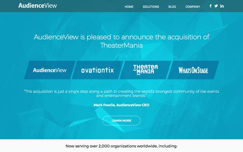 AudienceView - The most comprehensive ticketing and e-commerce platform in the world - AudienceView