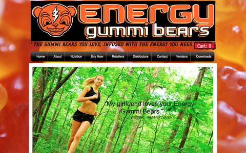 Screenshot of Home Page energygummibears.com - Energy Gummi Bears - captured Feb. 1, 2016