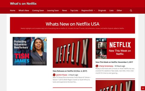 What's New on Netflix - What's on Netflix