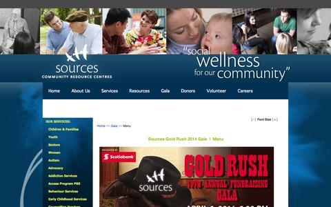 Screenshot of Menu Page sourcesbc.ca - Gala - Menu - captured Oct. 7, 2014