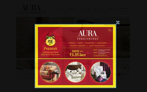Screenshot of Home Page aurafurnishings.com - Aura Furnishing - Wide Range of Home Decor Products - captured Sept. 30, 2014