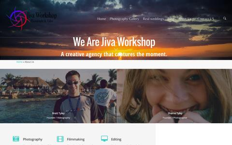 Screenshot of About Page jivaworkshop.com.au - About Us | Jiva Workshop Photography & Video - captured Jan. 9, 2016