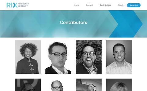 Contributors - Recruitment Innovation Exchange