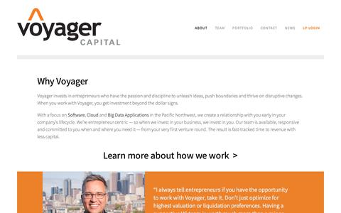 Screenshot of About Page voyagercapital.com - Why Voyager | Voyager Capital - captured May 14, 2019
