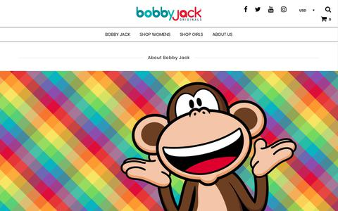 Screenshot of About Page bobbyjackbrand.com - All About Bobby Jack Brand - captured Aug. 3, 2018