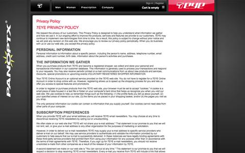 Screenshot of Privacy Page 7eye.com - 7eye | Your World. Your Vision. - captured Oct. 9, 2014