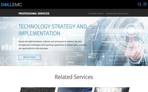 Screenshot of Services Page dellemc.com - Implementing a Big Data Solution | Dell EMC US - captured Feb. 9, 2018