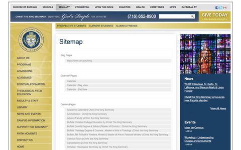 Screenshot of Site Map Page cks.edu - Website Sitemap - captured Nov. 5, 2016