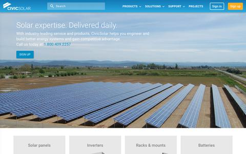 Screenshot of Home Page civicsolar.com - CivicSolar | CivicSolar provides industry-leading service and technology to solar contractors. - captured July 7, 2019