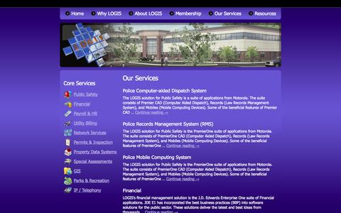 Screenshot of Services Page logis.org - Our Services | LOGIS - captured Sept. 26, 2014