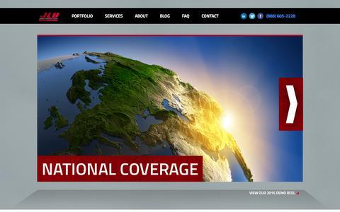 Screenshot of Home Page jlbmedia.com - JLB Media Productions | Corporate Video Production - captured June 18, 2015