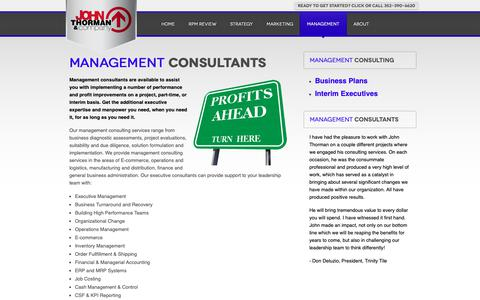 Screenshot of Team Page johnthorman.com - Management Consultant - Business Consultants FL - captured Oct. 14, 2018