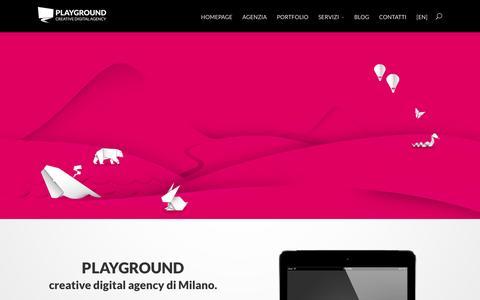 Screenshot of Home Page playground.it - Playground Creative Digital Web Agency, Milano - captured Jan. 22, 2016