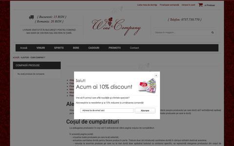 Screenshot of Support Page wineandcompany.ro - Ajutor - Cum cumpar ? - captured Feb. 14, 2016