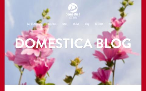 Screenshot of Press Page domesticaclean.com - News Archives - Domestica Clean - captured Feb. 9, 2016