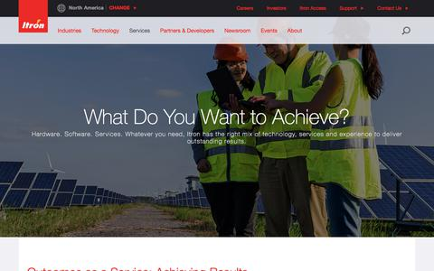 Screenshot of Services Page itron.com - Services - captured Oct. 15, 2017