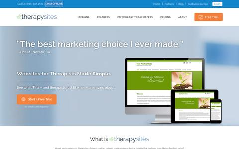Screenshot of Home Page therapysites.com - TherapySites - captured Jan. 27, 2016