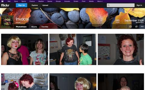 Screenshot of Flickr Page flickr.com - Flickr: Invocal's Photostream - captured Oct. 27, 2014