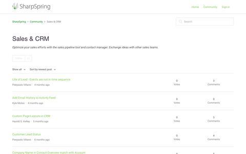 Screenshot of Support Page sharpspring.com - Sales & CRM – SharpSpring - captured July 12, 2019