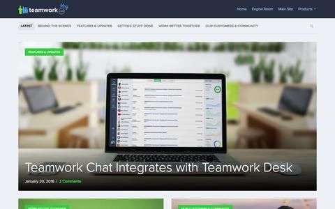 Screenshot of Blog teamwork.com - Teamwork.com Blog  Thoughts from the team behind Teamwork.com - captured Jan. 21, 2016