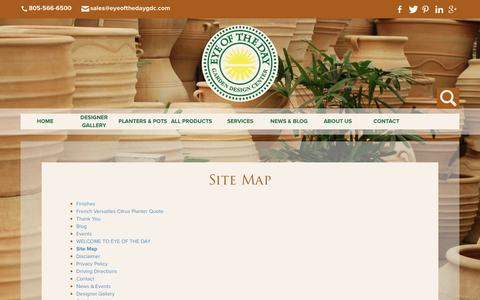 Screenshot of Site Map Page eyeofthedaygdc.com - Site Map - captured Feb. 2, 2016