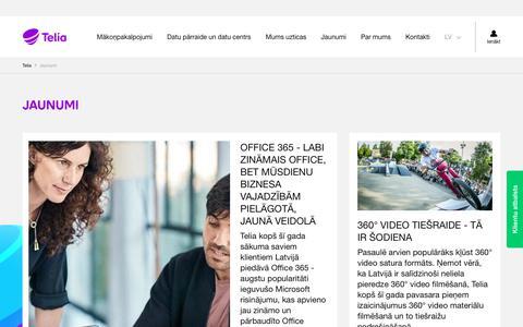 Screenshot of Press Page telia.lv - Jaunumi – Telia - captured Aug. 6, 2017