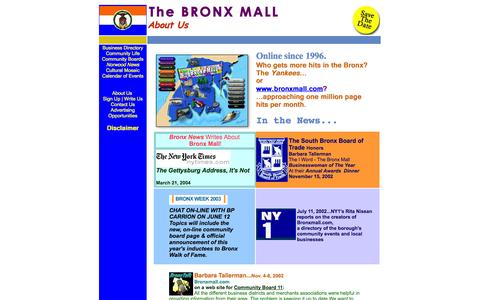 Screenshot of About Page bronxmall.com - The BRONX MALL - About Us - In the News - captured Oct. 5, 2014