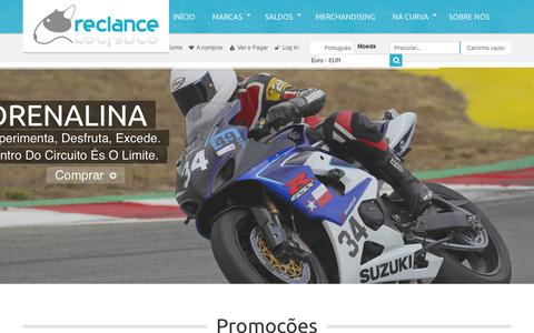 Screenshot of Home Page reclance.pt - Inicio  - Equipamento (PT) - captured Sept. 30, 2014