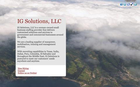 Screenshot of Home Page igs-llc.com - IG Solutions, LLC - captured Feb. 3, 2016