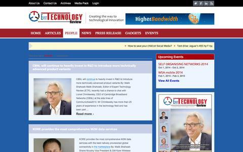 Screenshot of Team Page experttechnologyreview.com - Interviews | Expert Technology Review - captured Sept. 30, 2014