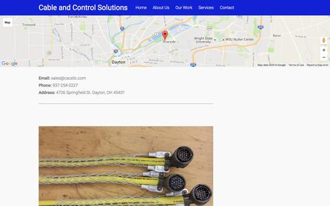 Screenshot of Contact Page cacsllc.com - Contact – Cable and Control Solutions - captured Oct. 15, 2016