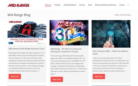 Screenshot of Blog midrange.ca - Mid-Range Blog - Mid-Ranged Managed IT Services - captured Oct. 18, 2018