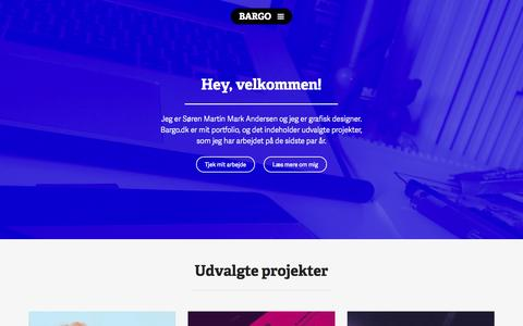 Screenshot of Home Page bargo.dk - Bargo – digital design & gadegrafik - captured Sept. 30, 2014